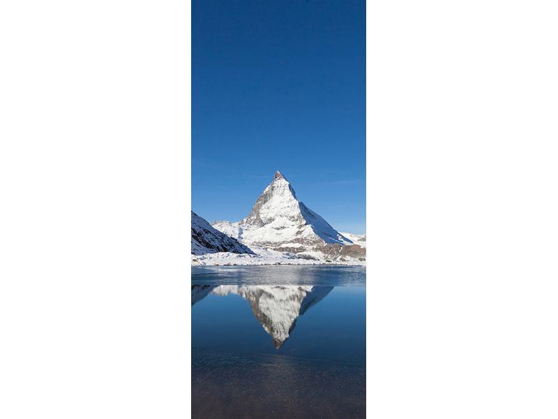 Türtapete Der Riffelsee am Matterhorn