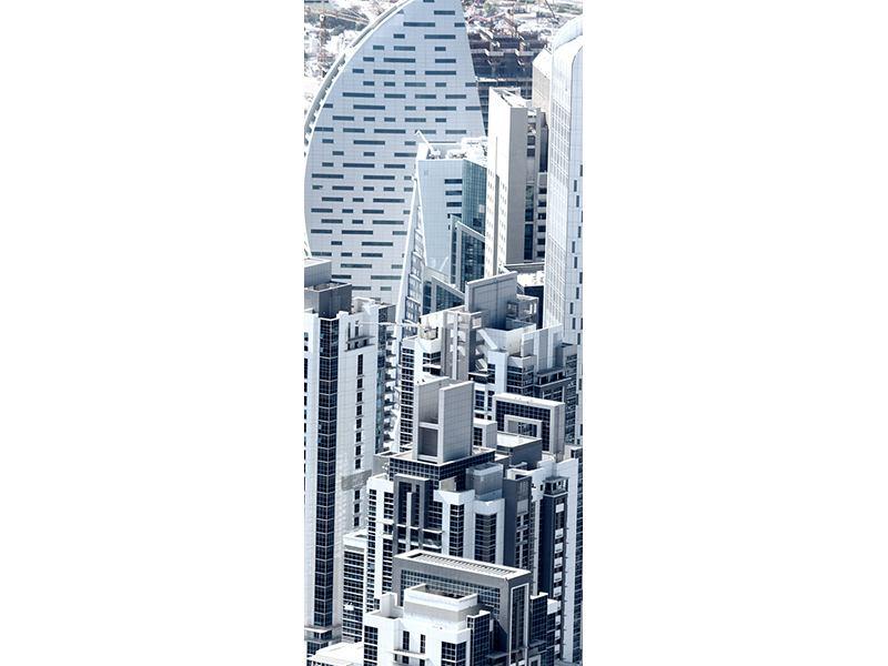 Türtapete Die Wolkenkratzer von Dubai