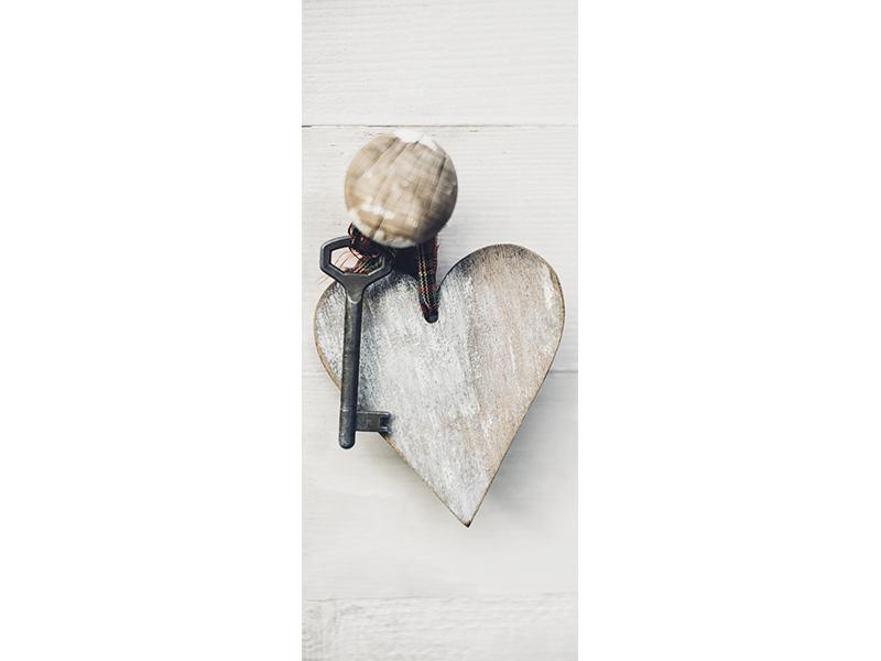Türtapete Herzschlüssel