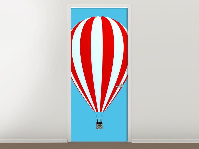 Türtapete Ballonfahrt