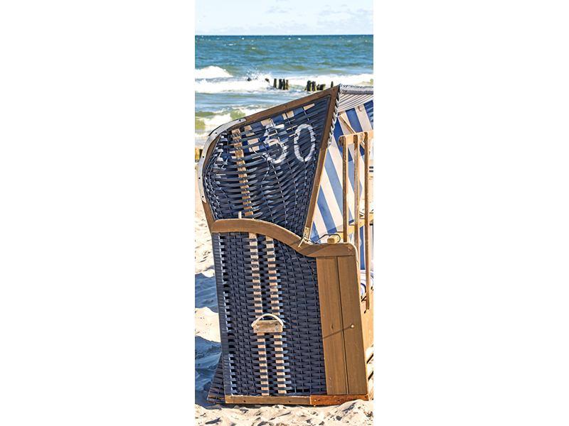 Türtapete Strandkorb
