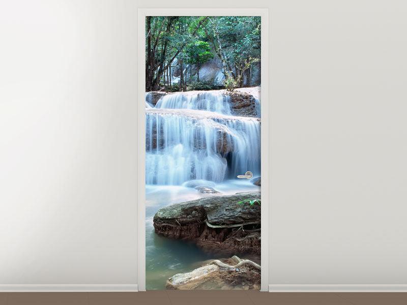 Türtapete Ein Wasserfall