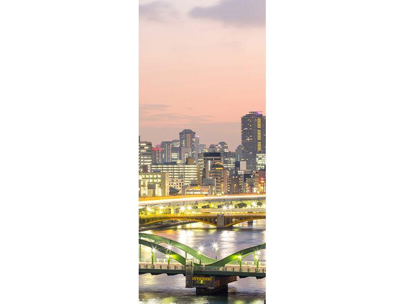Türtapete Skyline Das Lichtermeer von Tokio
