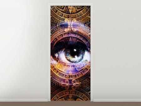 Türtapete Psychedelic Eye