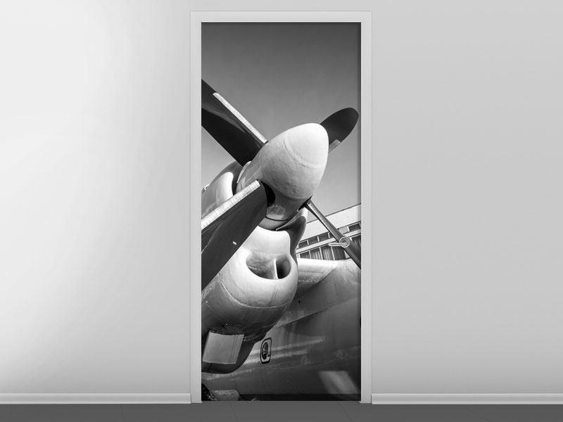Türtapete Nostalgisches Flugzeug
