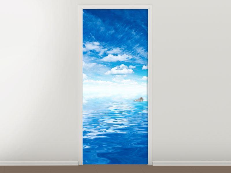 Türtapete Himmel und Wasser