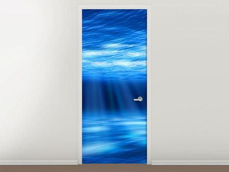 Türtapete Licht unter Wasser