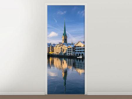 Türtapete Zürich