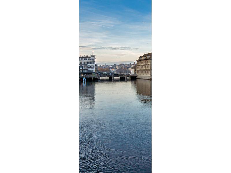 Türtapete Kosmopolitisches Zürich
