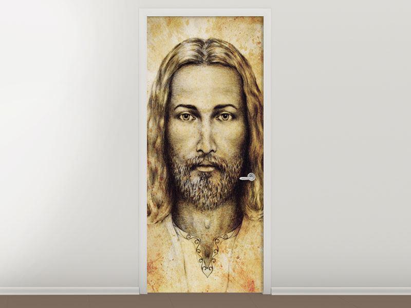 Türtapete Jesus Gemälde