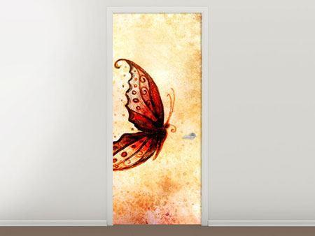 Türtapete Butterfly Gemälde