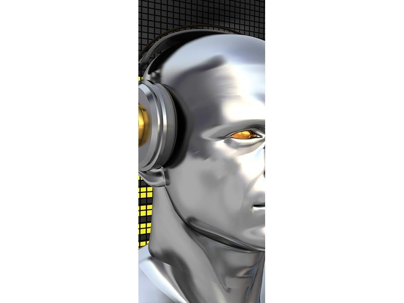 Türtapete Futuristischer DJ