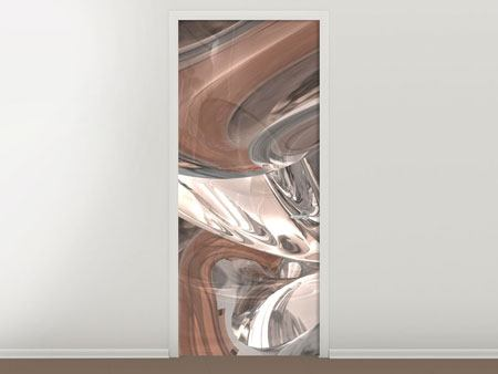 Türtapete Abstraktes Glasfliessen