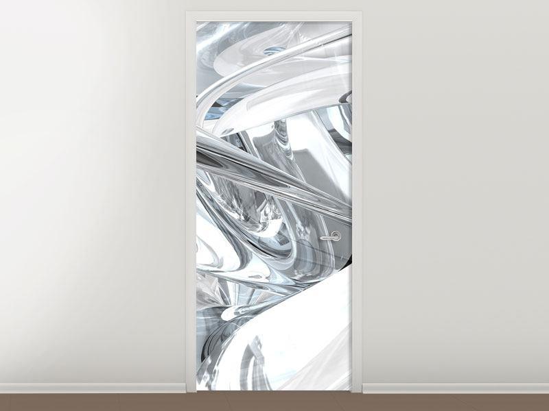 Türtapete Abstrakte Glasbahnen