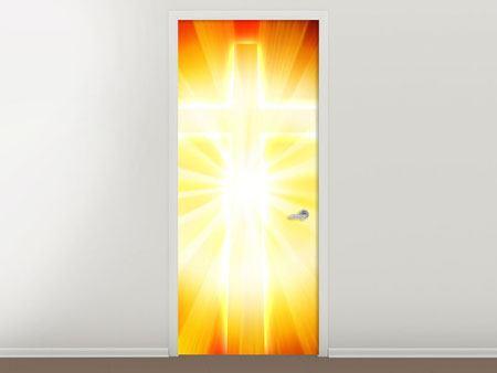 Türtapete Heiliges Kreuz im Licht