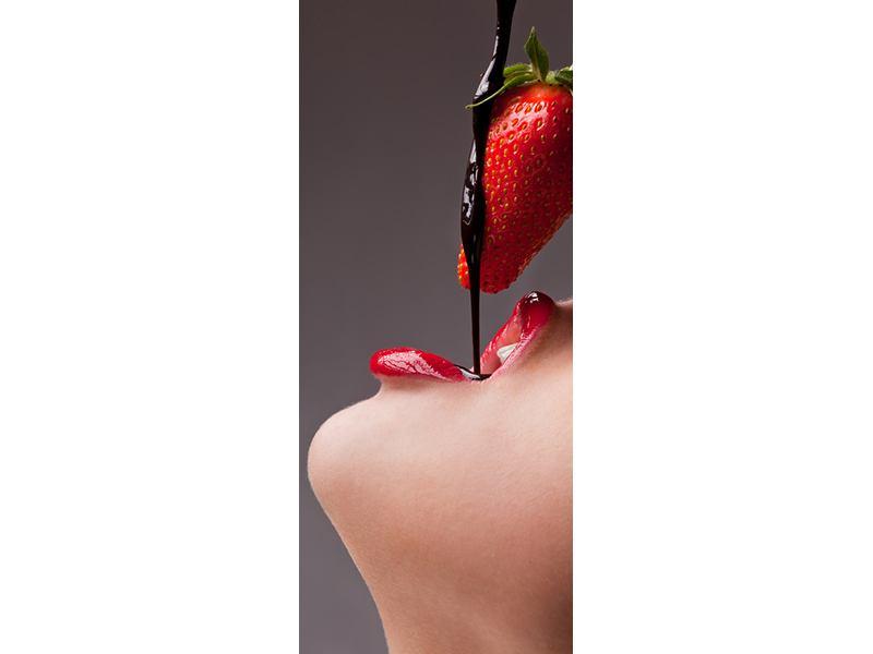 Türtapete Erdbeer-Kuss