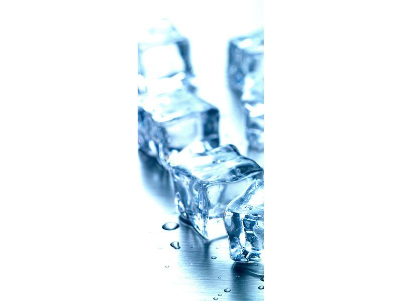 Türtapete Viele Eiswürfel