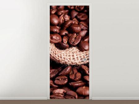 Türtapete XXL Kaffeebohnen