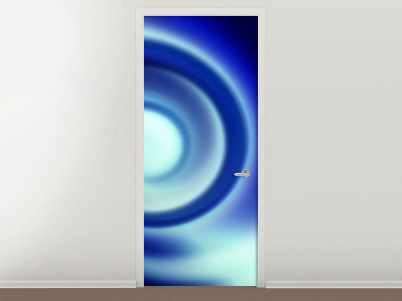 Türtapete Abstrakte Blaue Wirbel