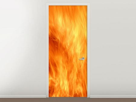 Türtapete Flammen