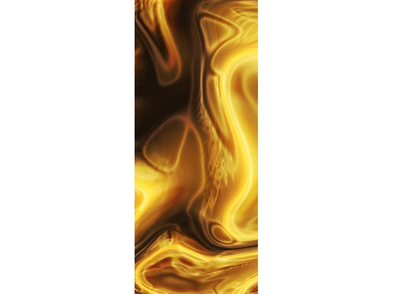 Türtapete Abstrakt Flüssiges Gold