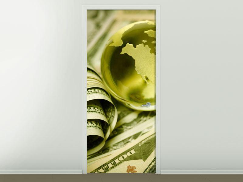 Türtapete Geld regiert die Welt