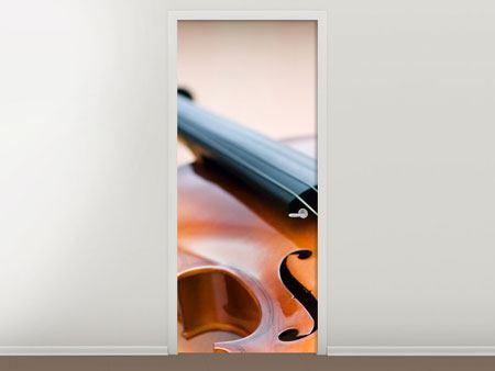 Türtapete Geige