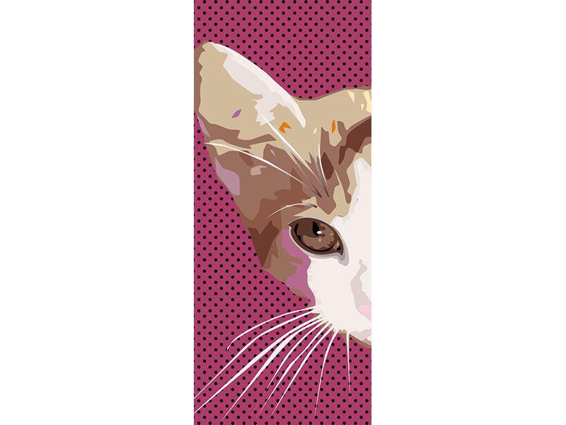 Türtapete Pop Art Katze