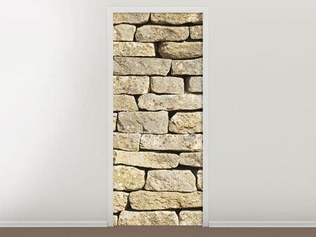 Türtapete Alte Mauer