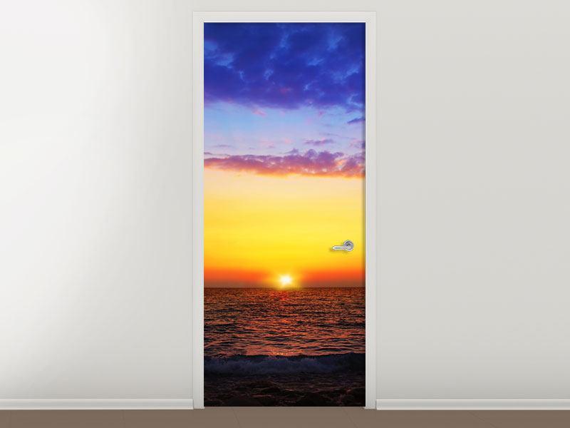 Türtapete Leuchtender Sonnenuntergang