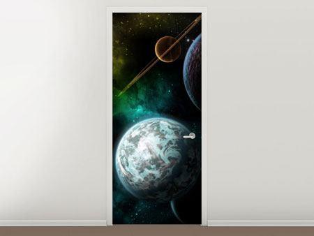 Türtapete Der Weltraum