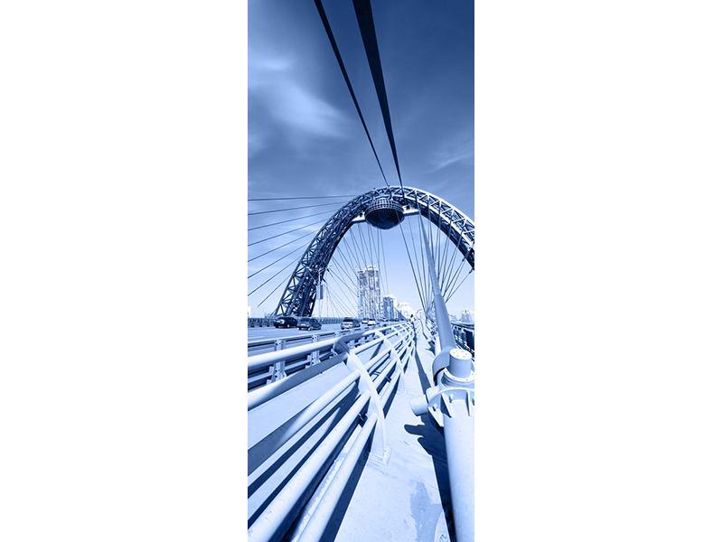 Türtapete Moderne Hängebrücke