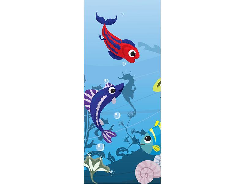 Türtapete Fische im Wasser
