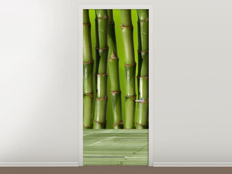 Türtapete Der Bambus