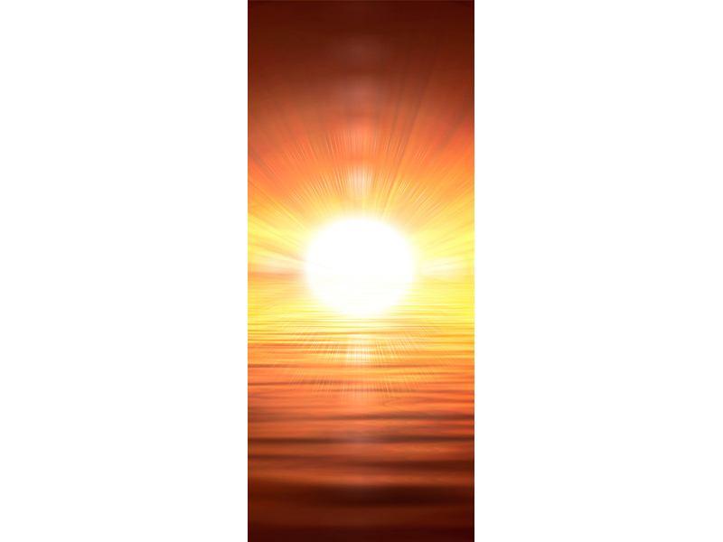 Türtapete Glühender Sonnenuntergang