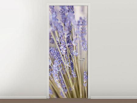 Türtapete Lavendel XXL