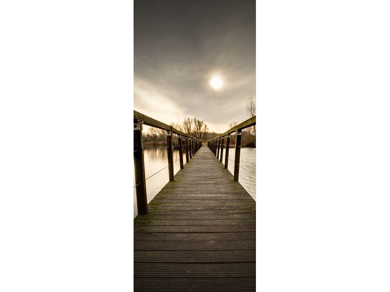 Türtapete Die Holzbrücke