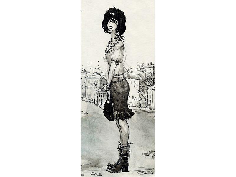 Türtapete Fashion Girl