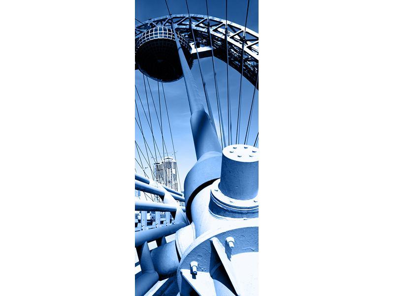 Türtapete Avantgardistische Hängebrücke