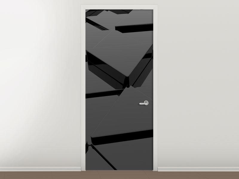 Türtapete 3D-Dreiecksflächen