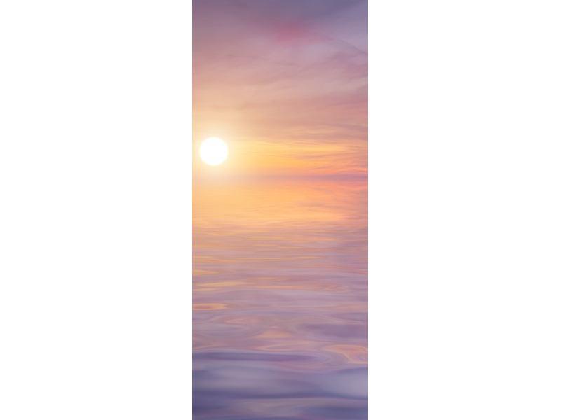 Türtapete Sonnenuntergang auf See