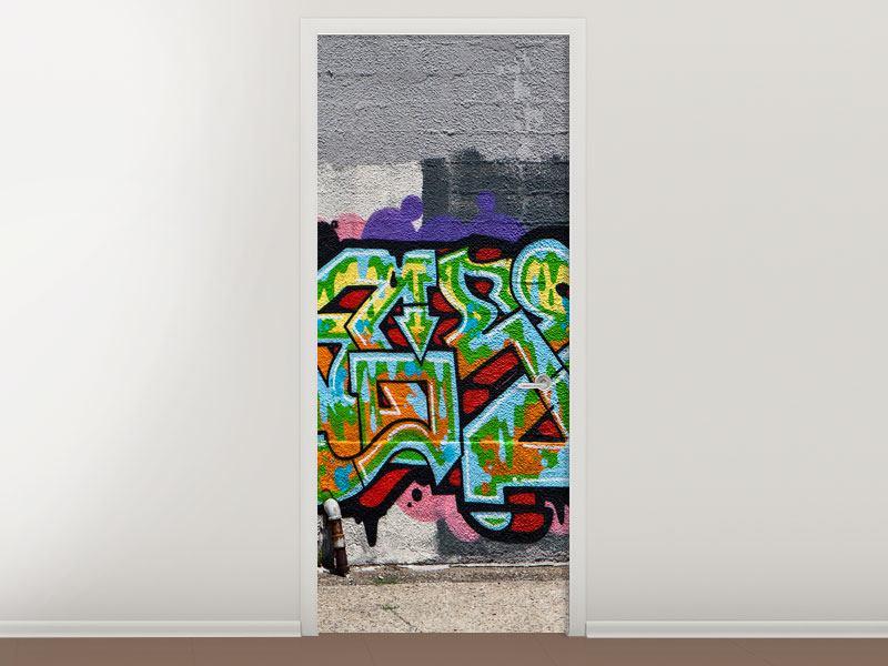 Türtapete Graffiti in New York