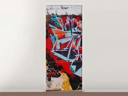Türtapete New York Graffiti