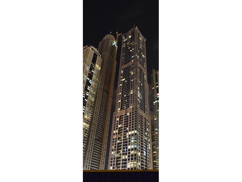 Türtapete Wolkenkratzer Dubai Marina