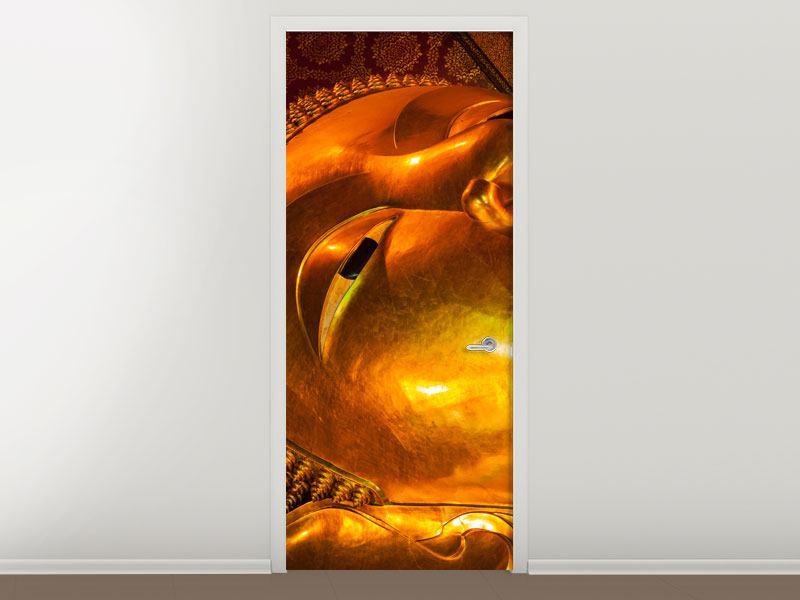 Türtapete Liegender Buddha