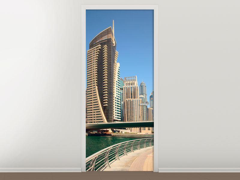 Türtapete Spaziergang in Dubai