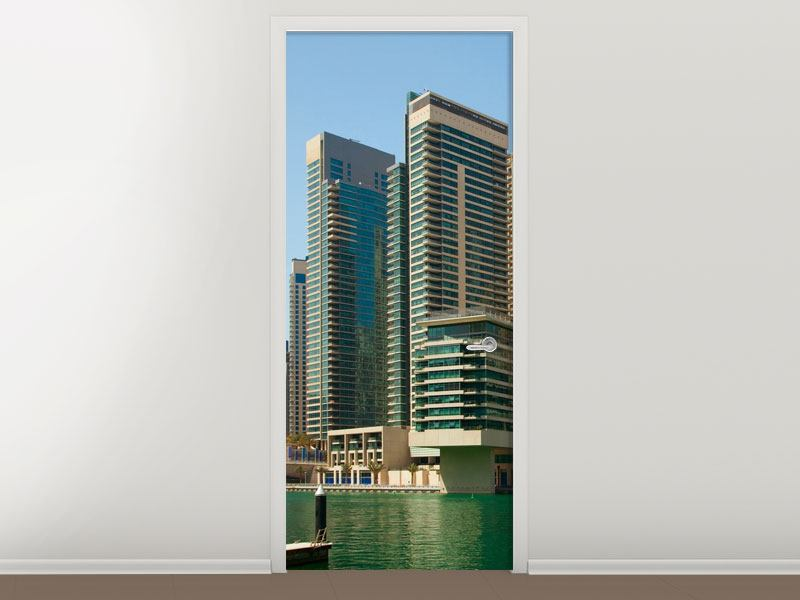 Türtapete Spektakuläre Wolkenkratzer Dubai