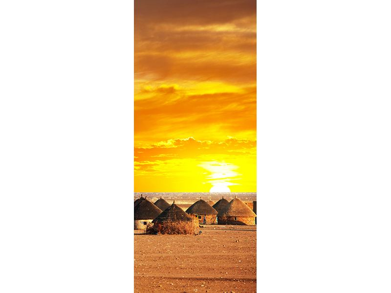 Türtapete Afrikanisches Dorf