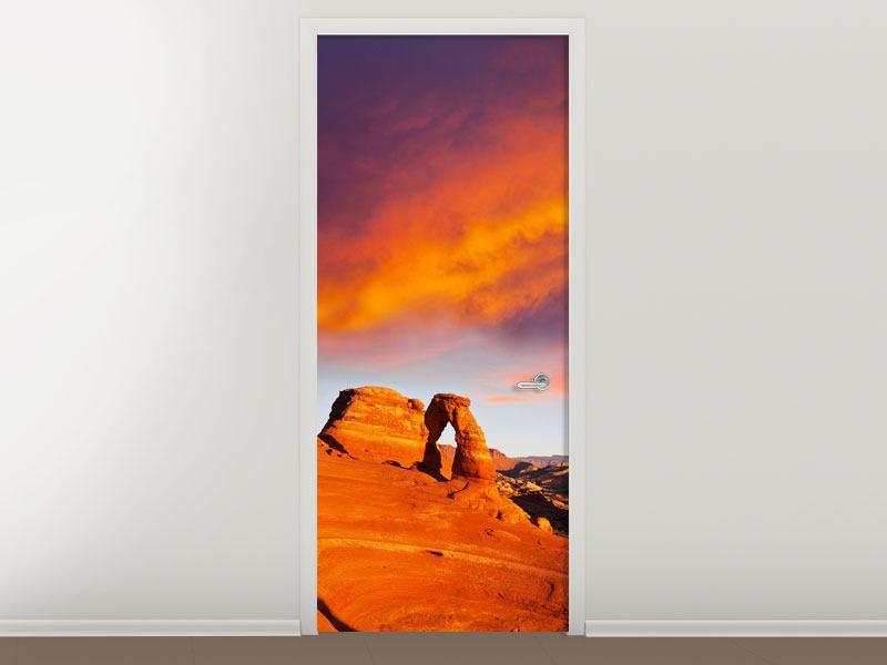 Türtapete Sonnenuntergang im Canon