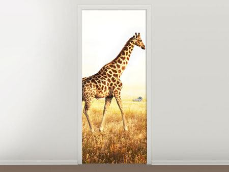 Türtapete Die Giraffe